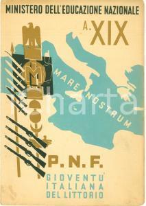 1941 SEDRINA (BG) Pagella Tommaso SALVI Scuola elementare mista