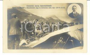1910 DOMODOSSOLA (VB) Concorso aereo Incidente mortale Geo CHAVEZ