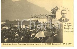 1910 DOMODOSSOLA Funerali aviatore Geo CHAVEZ FP NV