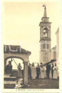 1930 ca LECCO Eremo di SAN GENESIO Monaci camaldolesi *Cartolina ANIMATA FP NV