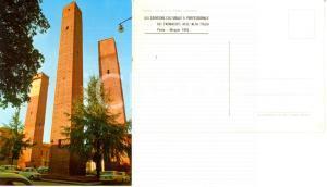 1965 PAVIA Torri di piazza LEONARDO XIII Convegno Farmacisti Alta Italia *FG NV