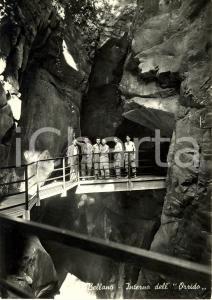 1960 ca BELLANO (LC) Interno dell'ORRIDO * Cartolina ANIMATA FG NV