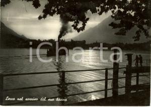 1962 LECCO Panorama nel sorriso del suo bacino* Cartolina ANIMATA FG VG