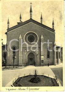 1930 ca VIGEVANO (PV) Facciata della chiesa di SAN FRANCESCO *Cartolina FG VG