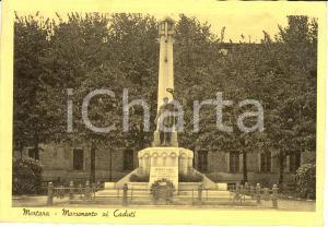 1940 MORTARA (PV) Il monumento ai Caduti * Cartolina postale FG VG