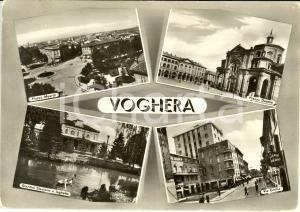 1960 VOGHERA (PV) Vedutine con albergo UNIVERSO e piazza MEARDI *Cartolina FG VG