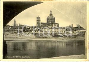1949 PAVIA Panorama con DUOMO visto dal TICINO * Cartolina FG VG