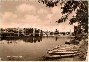 1954 LODI Panorama città dal fiume ADDA *Cartolina FG VG DANNEGGIATA