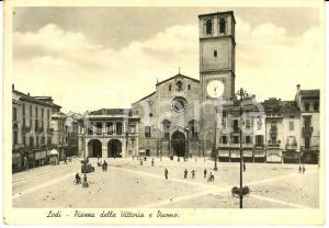 1935 LODI Piazza VITTORIA con il Duomo *Cartolina postale FG VG