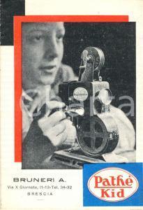 1930 ca MILANO Opuscolo Proiettore PATHE' KID Ditta BRUNERI *Illustrato