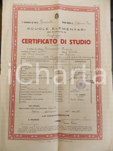 1935 FOGLIZZO (TO) Certificato di studio di Anna SIMONDI scuole elementari