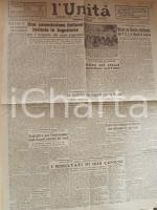 1946 L'UNITA' Per il rimpatrio prigionieri italiani in Jugoslavia *Giornale