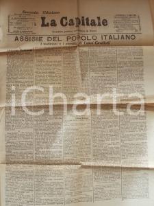 1895 LA CAPITALE Testimoni e complici di Felice CAVALLOTTI *Gazzetta di Roma