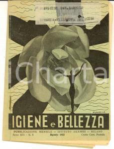 1933 MILANO Istituto HERMES Igiene e bellezza - Sudore e untume *Rivista n° 8