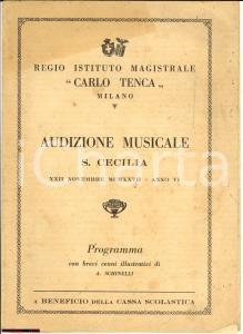 1927 MILANO Istituto TENCA Audizione Musicale S.Cecilia