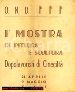 1943 OND I^ Mostra dopolavoristi CINECITTA'