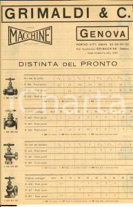 1930 ca GENOVA GRIMALDI & C. Distinta del Pronto
