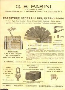 1930 ca GENOVA Ditta PASINI Forniture per imballaggio