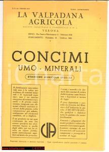 1952 VERONA Valpadana Agric. Concimi Umo-Minerali