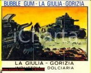 1970 ca GORIZIA Figurina Bubble Gum Industria LA GIULIA