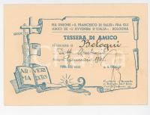 1943 Tessera Pia Unione S.Francesco di Sales