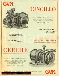 1925 Pompe Idrauliche GVM Milano FG pieghevole