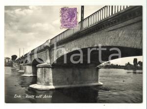 1953 Lodi - Ponte sull'Adda *Veduta d'epoca FG VG