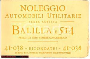 1935(?)  ROMA autonoleggio FIAT BALILLA