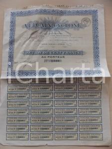 1935 ca PARIS Société Anonyme VULCAIN-CYCLONE Action cent francs *Certificat