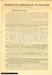 1948 - Partito Liberale, agricoltori e concorenza
