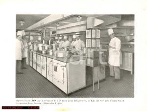 1940 ca CUCINE AGA Piroscafo EL NIL Linea Genova - Alessandria d'Egitto *Foto