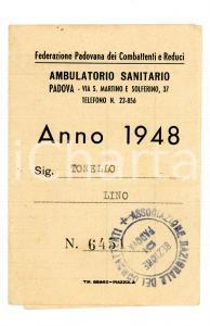 1948 PADOVA Ambulatorio sanitario combatt.e reduci