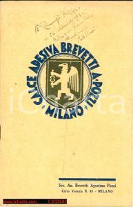 1935 Calce adesiva Pozzi *Istruz. malte e intonaci