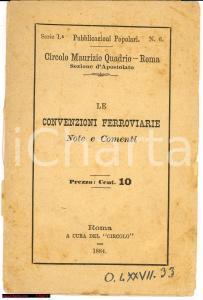 1884 Concessioni Ferroviarie - Critica politica