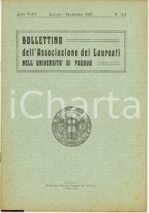 1927 Bollettino Assoc. Laureati Università Padova