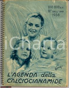 1938 MILANO Agenda della CALCIOCIANAMIDE Illustrata