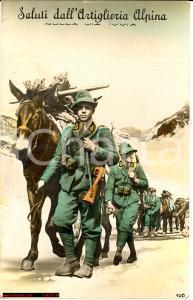 1941 Saluti dall'ARTIGLIERIA ALPINA viaggiata