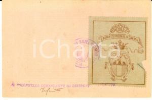1900 ca SAVONA Distretto Militare 71 - Cartolina firma comandante TASCIOTTI