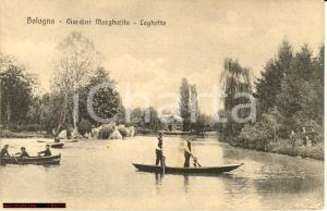 1930 ca BOLOGNA Laghetto Giardini MARGHERITA Animata FP