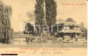 1904 BOLOGNA Ponte chalet laghetto Giardini MARGHERITA