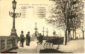 1921 BOLOGNA Sull'alto del PINCIO *Cartolina FP VG