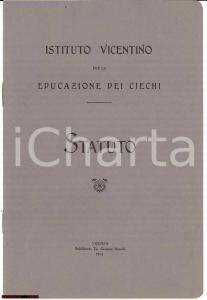 1914 ISTITUTO VICENTINO EDUCAZIONE CIECHI Statuto