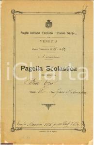 1922 VENEZIA Regio Istituto Tecnico
