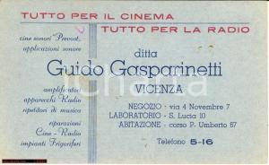 1938 VICENZA GASPARINETTI Tutto per il cinema