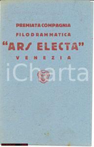 1928 VENEZIA COMPAGNIA ARS ELECTA Tre Amanti Zorzi