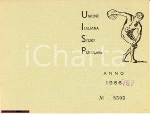 1966 Unione Italiana Sport Popolare Napoli tessera
