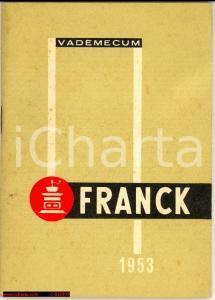 1953 TRENTESIMO VADEMECUM FRANCK complemento caffè