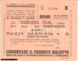 1938 ROMA Ausonia Film - Proiezione Gratuita