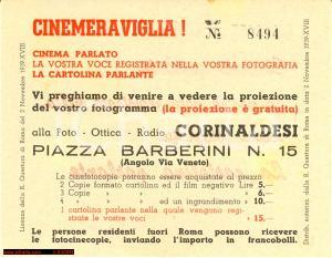 1939 Fotocinecopie - Cinema Parlato - pubblicità