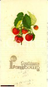 1925 Confitures LENZBOURG HERO vintage menu